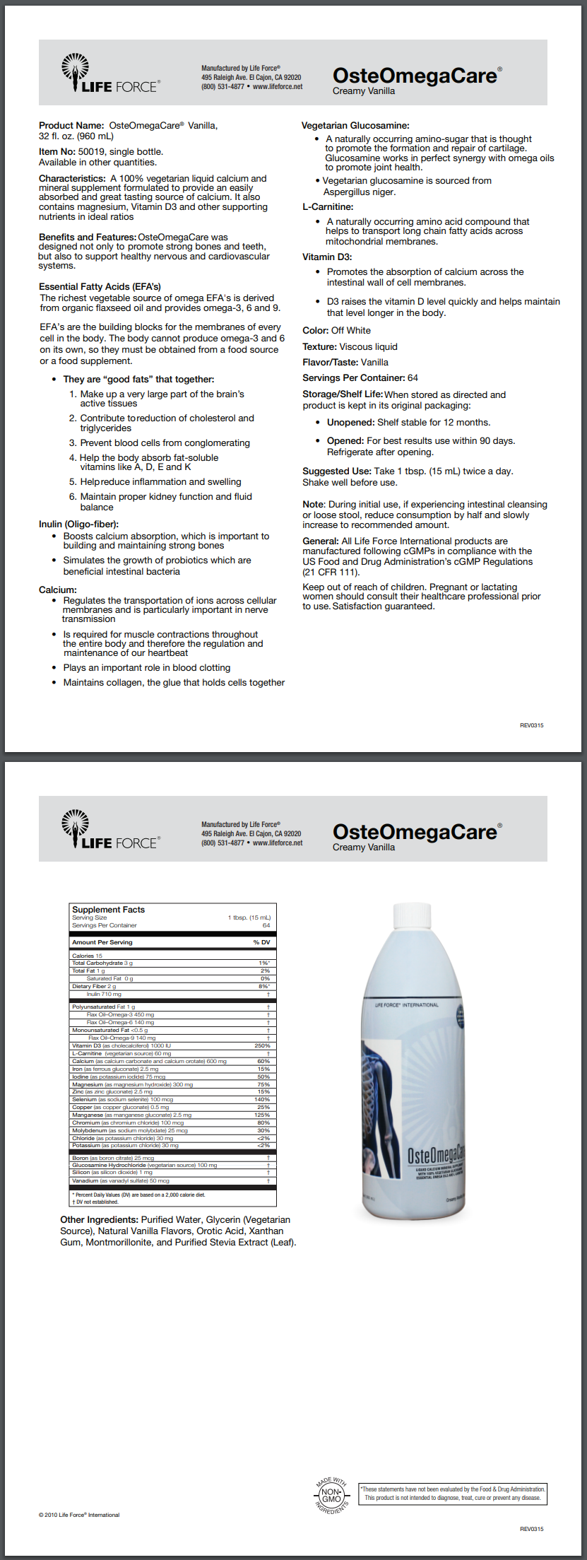 OsteoMegaCare Product Details