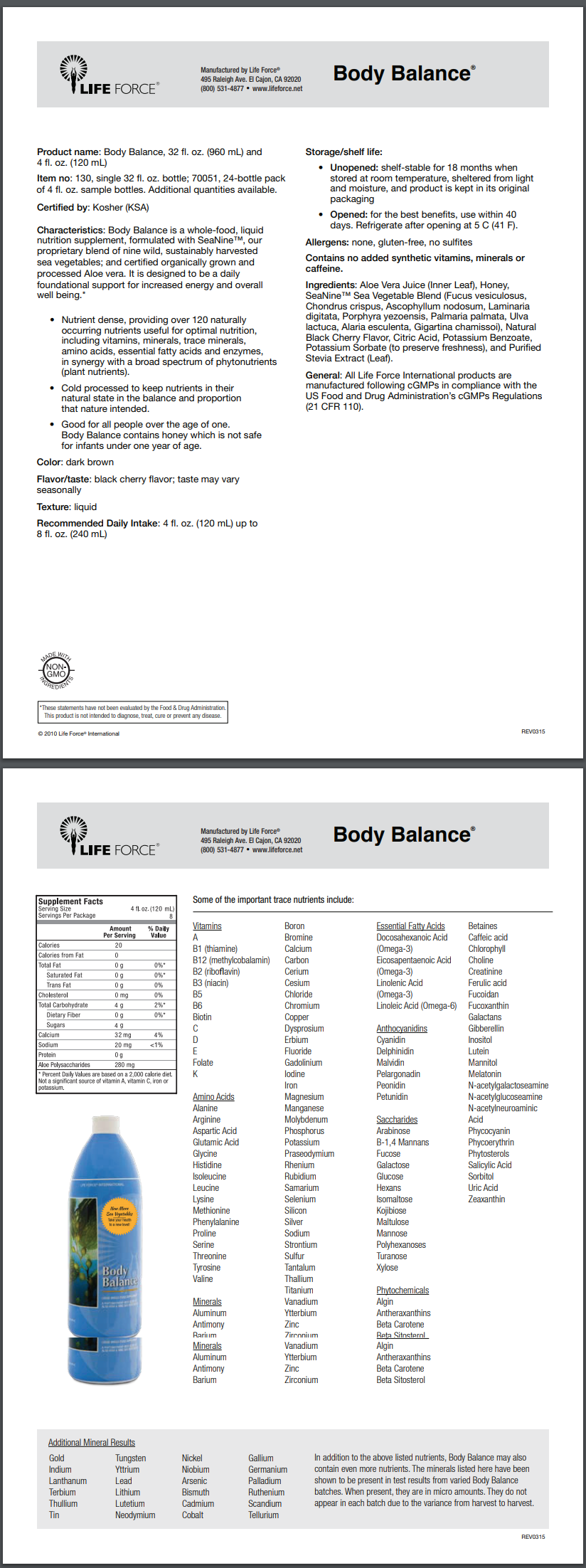 BodyBalance FACT SHEET